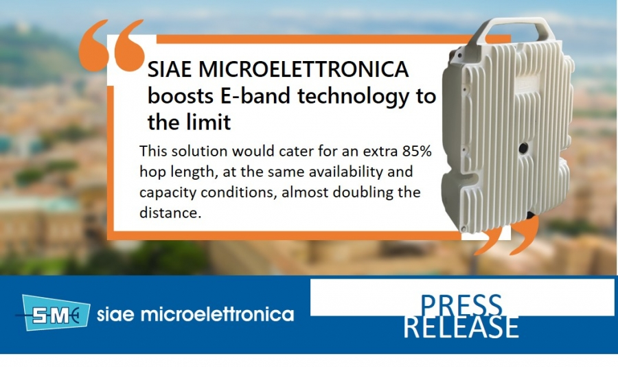 SIAE MICROELETTRONICA boosts E-band technology to the limit