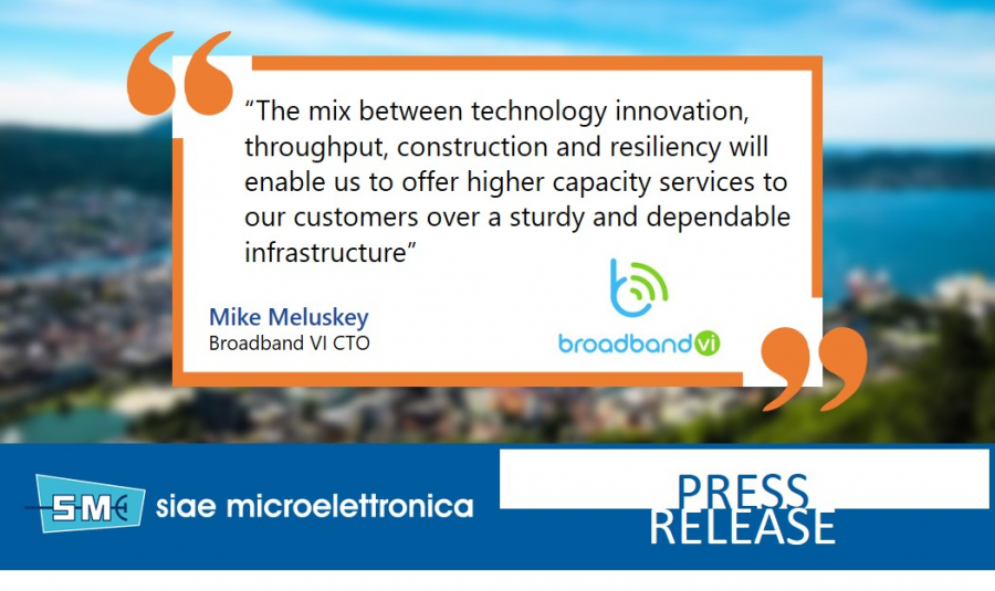 BROADBAND VI ENTRUSTS SIAE MICROELETTRONICA FOR CRITICAL MULTI-GIGABIT CONNECTIONS