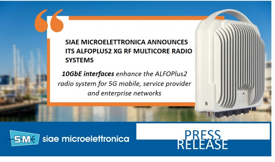 SIAE MICROELETTRONICA ANNOUNCES ITS ALFOPLUS2 XG RF MULTICORE RADIO SYSTEM