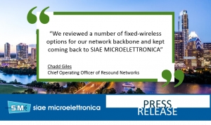 RESOUND NETWORKS DEPLOYS SIAE MICROELETTRONICA