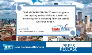TEXOMA COMMUNICATIONS RELIES ON SIAE MICROELETTRONICA BACKHAUL SOLUTIONS TO FUEL NETWORK EXPANSION