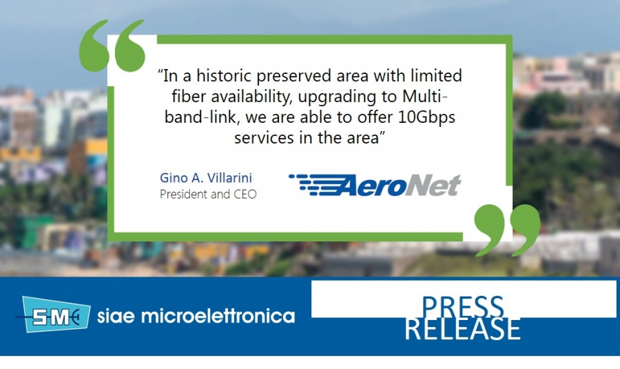 AERONET CHOOSES SIAE MICROELETTRONICA MULTI-BAND LINKS FOR NETWORK EXPANSION