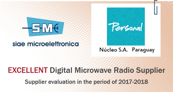 Núcleo S.A. recognizes to SIAE MICROELETTRONICA an Excellent supplier award