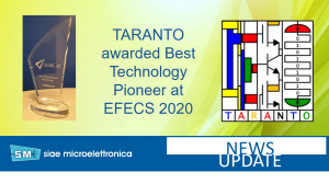 TARANTO is awarded 'Best Technology Pioneer' at EFECS 2020
